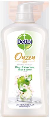 เดทตอล เจลอาบน้ำ ออนเซ็น สูตรสมูทติ้ง แอปเปิ้ล & อโลเวร่า