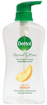 เดทตอล เจลอาบน้ำ แอนตี้แบคทีเรีย Approved by Moms สูตรออเรนจ์